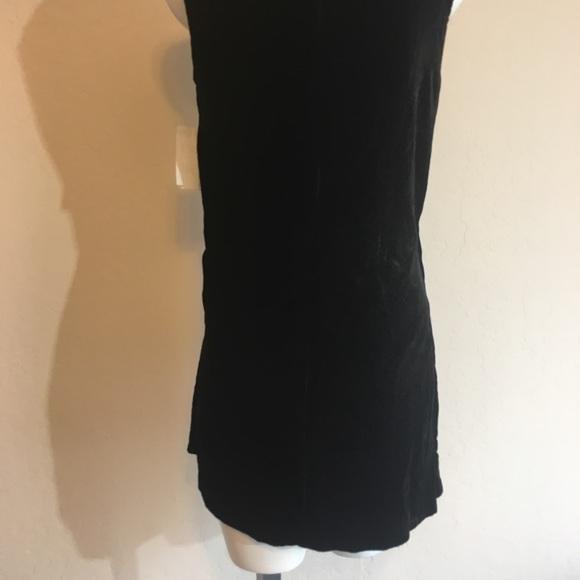 Kenneth Cole Womens Velvet Drape Wrap Top